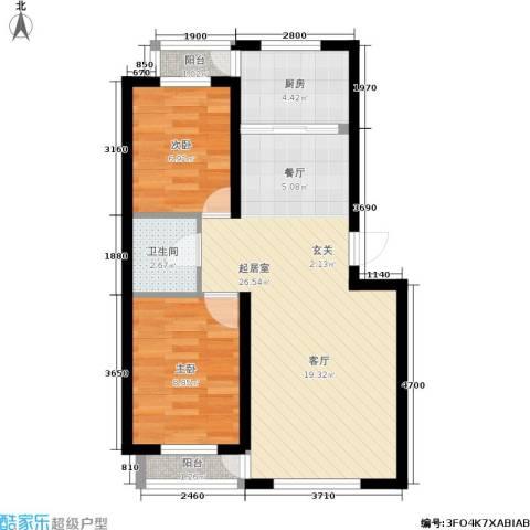 佳地天成2室0厅1卫1厨61.00㎡户型图