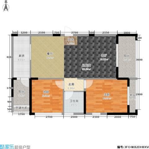 阳光100国际新城2室0厅1卫1厨85.87㎡户型图