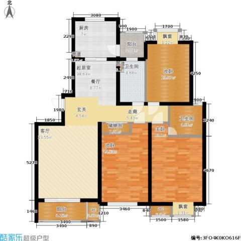 虹桥1号3室0厅2卫1厨128.00㎡户型图