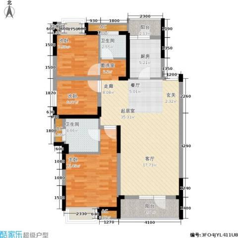 联投半岛3室0厅2卫1厨119.00㎡户型图