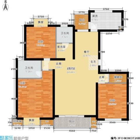虹桥1号3室0厅2卫1厨133.00㎡户型图