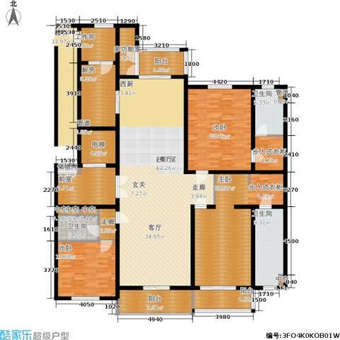 绿洲康城金邸3室0厅3卫1厨231.87㎡户型图