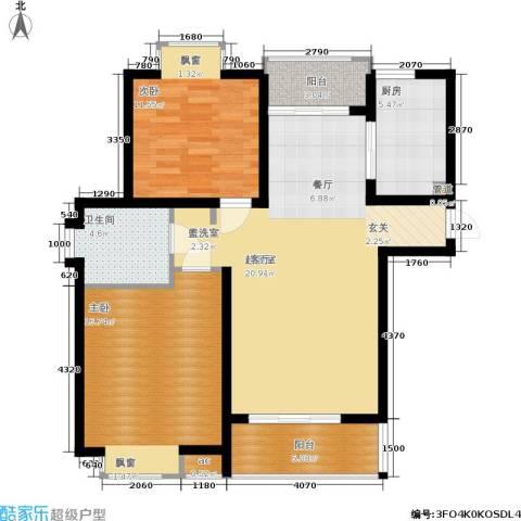 虹桥1号2室0厅1卫1厨89.00㎡户型图