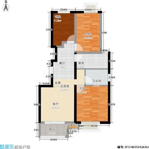 首地·浣溪谷3室0厅1卫1厨95.00㎡户型图