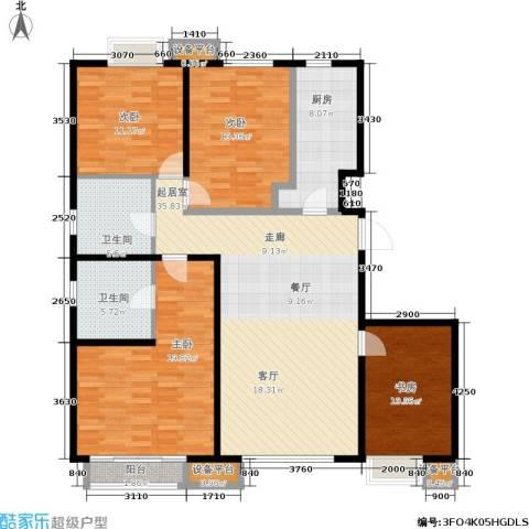首地·浣溪谷4室0厅2卫1厨128.00㎡户型图