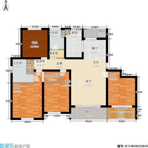 明天华城4室0厅2卫1厨163.00㎡户型图