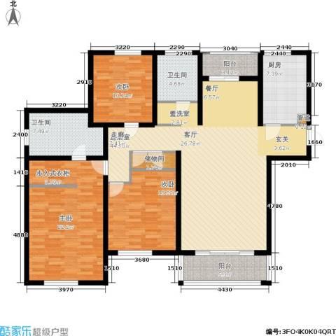明天华城3室0厅2卫1厨137.00㎡户型图