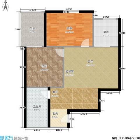 中菲香槟城一期2室0厅1卫1厨81.79㎡户型图
