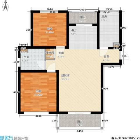 明天华城2室0厅1卫1厨97.00㎡户型图