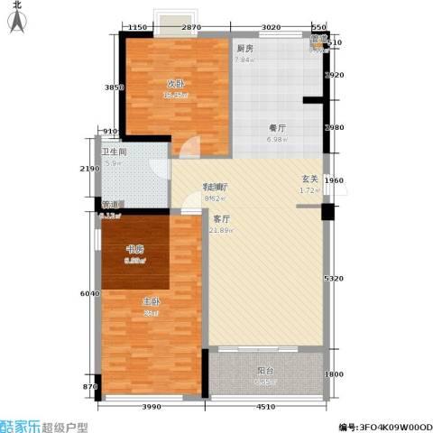 华都馨苑2室1厅1卫0厨111.11㎡户型图