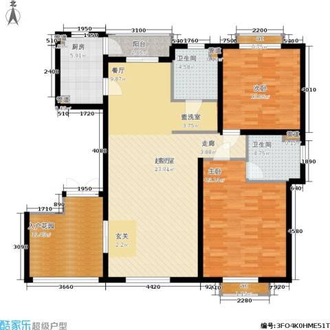 聚丰景都2室0厅2卫1厨122.00㎡户型图