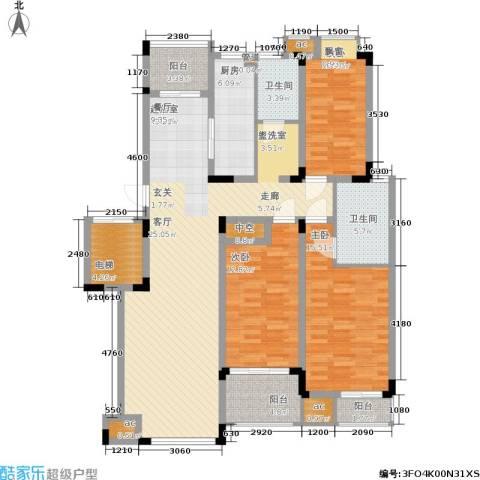 乾和福邸3室0厅2卫1厨133.00㎡户型图