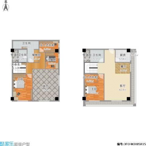 新发地3室1厅3卫1厨231.00㎡户型图