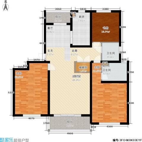 明天华城3室0厅2卫1厨145.00㎡户型图