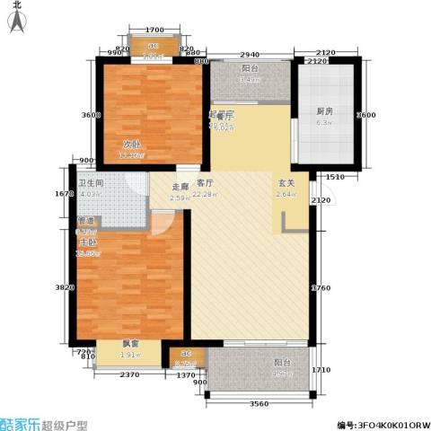 明天华城2室0厅1卫1厨87.00㎡户型图