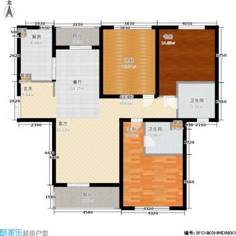 聚丰景都3室0厅2卫1厨139.00㎡户型图