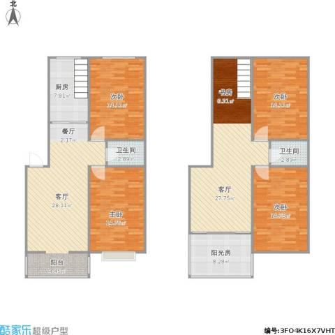 金陵世纪花园4室2厅2卫1厨181.00㎡户型图