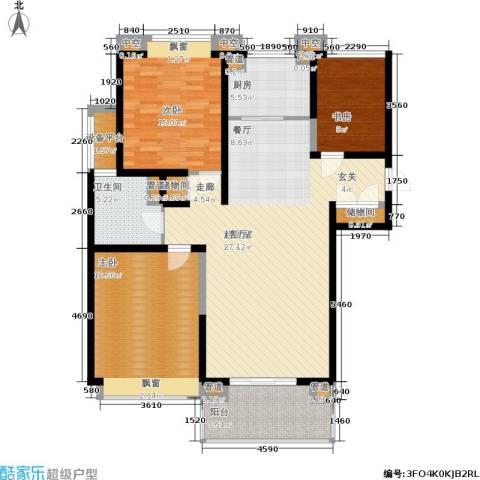合生财富海景公馆3室0厅1卫1厨123.00㎡户型图