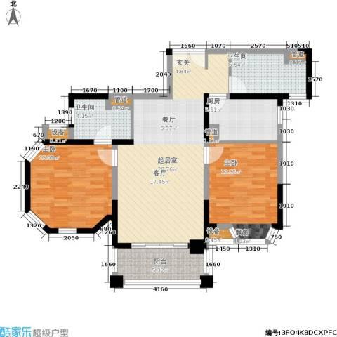 世嘉国际华城二期2室0厅2卫1厨111.00㎡户型图
