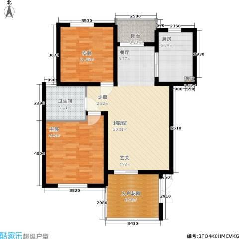 聚丰景都2室0厅1卫1厨88.00㎡户型图