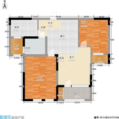 瑞鸿名邸2室0厅1卫1厨100.00㎡户型图
