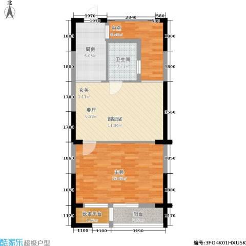 瑞鸿名邸1室0厅1卫1厨65.00㎡户型图