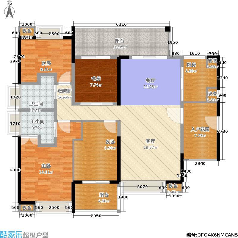 中珠九悦142.00㎡中珠九悦B1户型3室2厅2卫