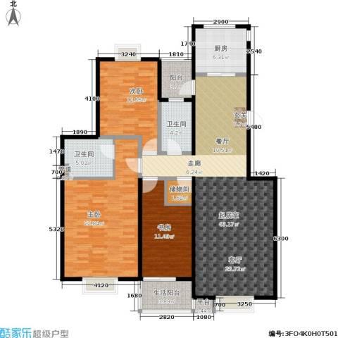 攀华未来城3室0厅2卫1厨128.00㎡户型图