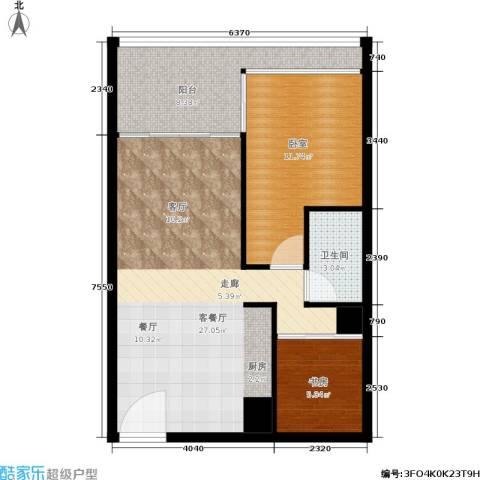 悉尼绿地中心1室1厅1卫0厨63.00㎡户型图