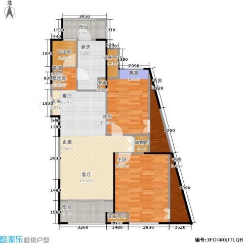 嘉实上城名都4室1厅1卫1厨96.00㎡户型图