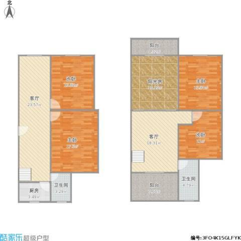 三星苑4室2厅2卫1厨181.00㎡户型图