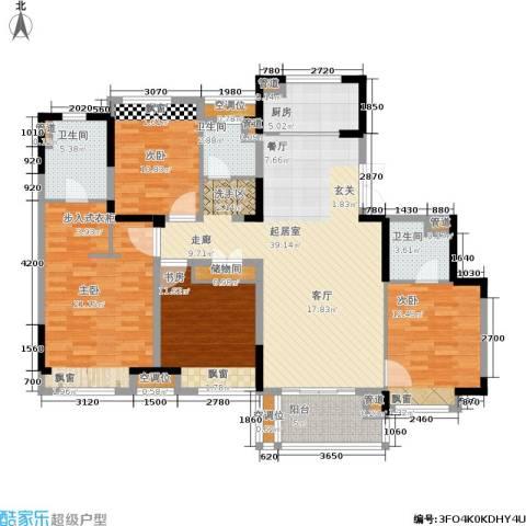 中粮南桥半岛4室0厅3卫1厨140.00㎡户型图