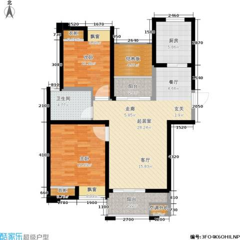 绿地望海新都(绿地领御)2室0厅1卫1厨90.00㎡户型图