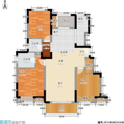 中粮南桥半岛3室0厅2卫1厨113.00㎡户型图
