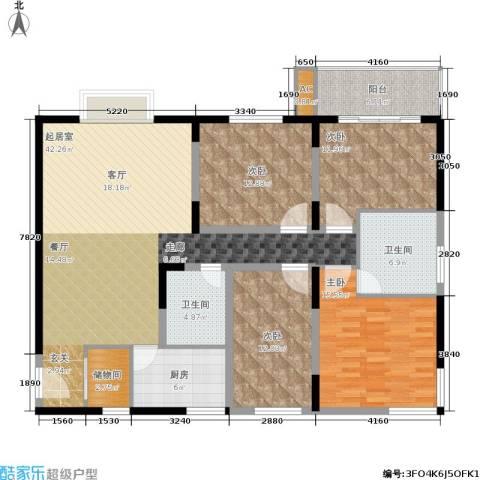菁华名门二期(华信世纪花园)4室0厅2卫1厨131.00㎡户型图
