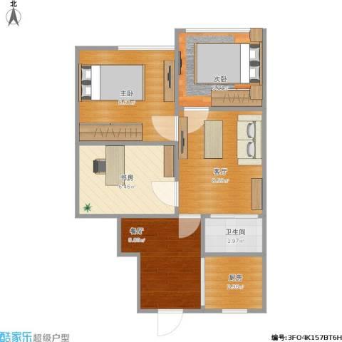 阜成门南大街3室2厅1卫1厨56.00㎡户型图