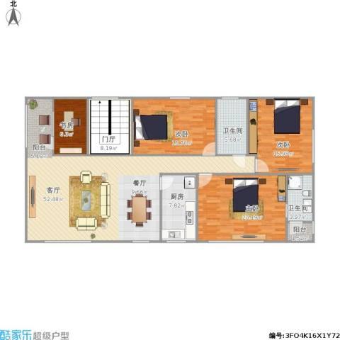 富景华庭4室1厅2卫1厨181.00㎡户型图