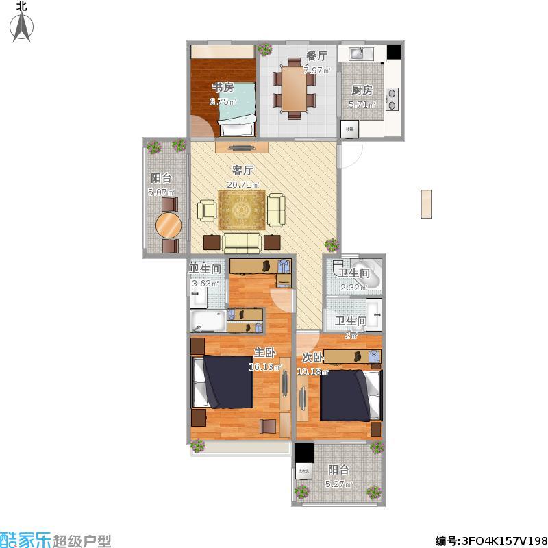 西溪丽晶居三室两厅