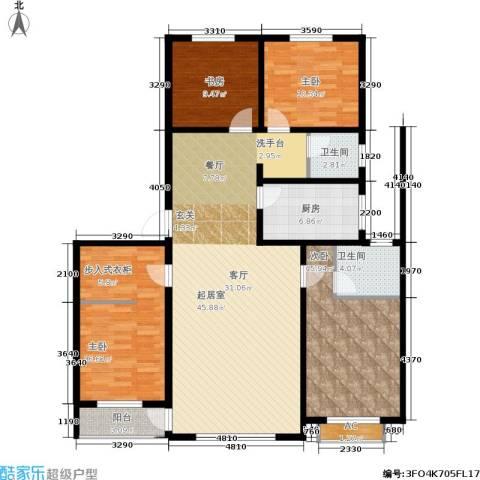 佰仕・印象4室0厅2卫1厨164.00㎡户型图