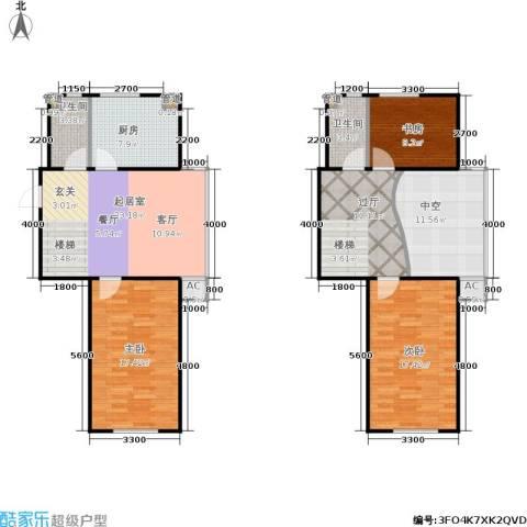 佳境天成3室0厅2卫1厨105.10㎡户型图