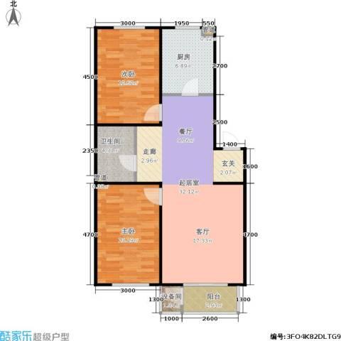 佳境天成2室0厅1卫1厨99.00㎡户型图