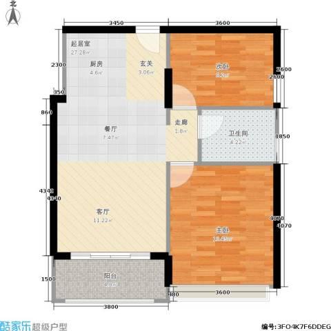 梦云南・雨林澜山2室0厅1卫0厨80.00㎡户型图