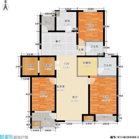 浦江坤庭3室0厅2卫1厨133.00㎡户型图