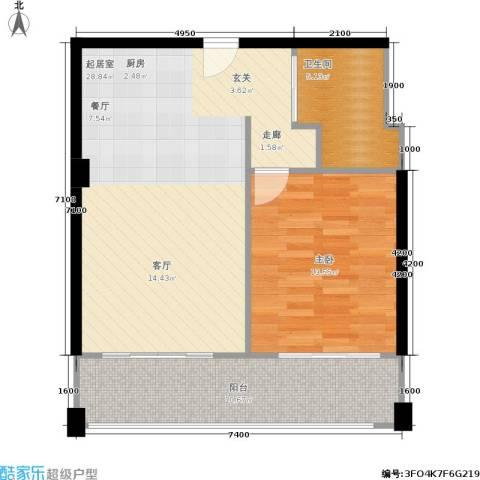梦云南・雨林澜山1室0厅1卫0厨80.00㎡户型图