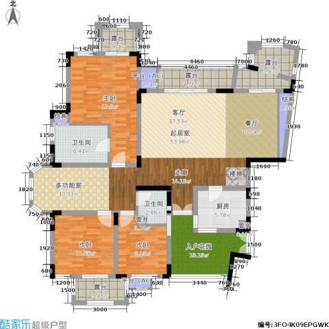 朗香郡 旭辉新里城 新里城3室0厅2卫1厨199.00㎡户型图