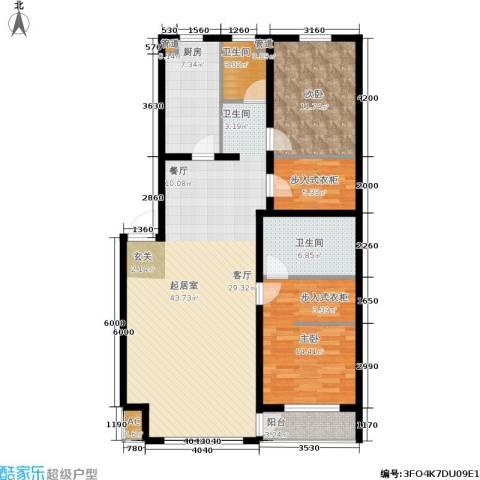 佰仕・印象2室0厅2卫1厨137.00㎡户型图