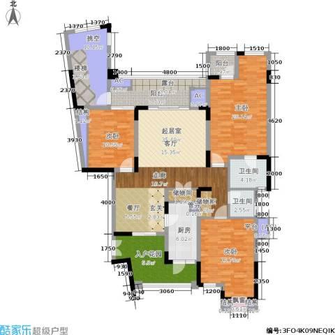 朗香郡 旭辉新里城 新里城3室0厅2卫1厨185.00㎡户型图