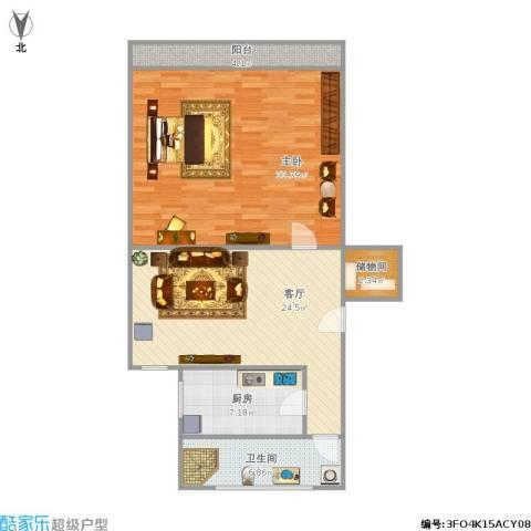 真光四街坊1室1厅1卫1厨105.00㎡户型图