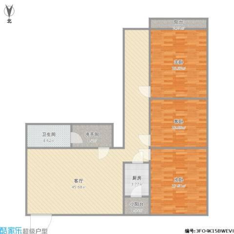 五棵松26号院3室1厅1卫1厨149.00㎡户型图