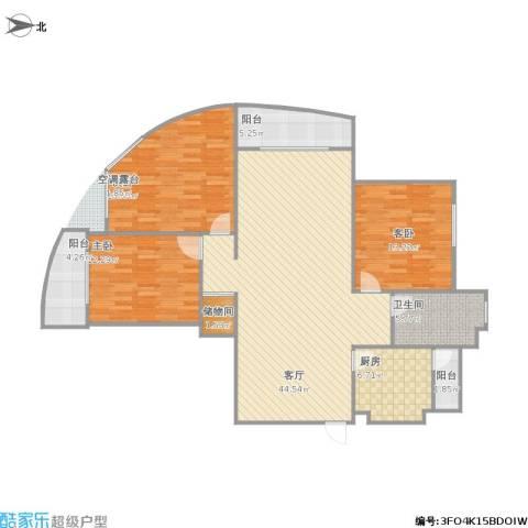五四公路1120号3室1厅1卫1厨150.00㎡户型图